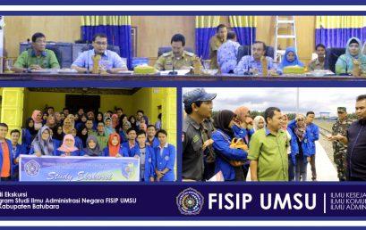 Studi Ekskursi Program Studi Ilmu Administrasi Negara FISIP UMSU Ke Kabupaten Batubara